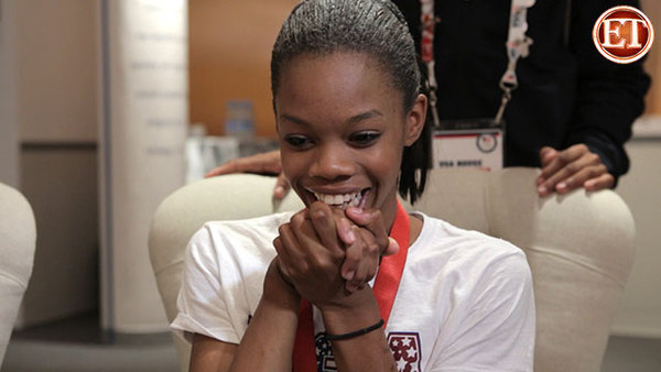 Gabby Douglas Surprised by 'Vampire Diaries' Cast