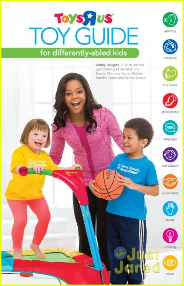 Gabby Douglas Covers 'Toys-R-Us' Toy Guide