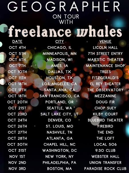 Freelance Whales Tour Poster