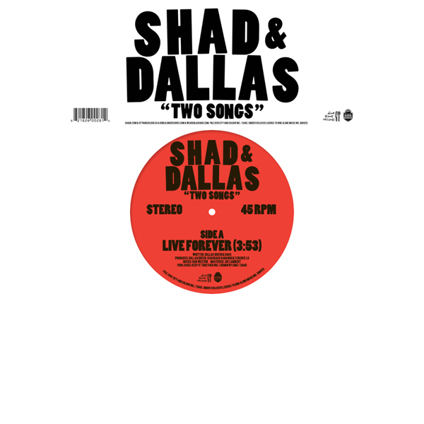 Shad & Dallas- Two Songs - Cover Art