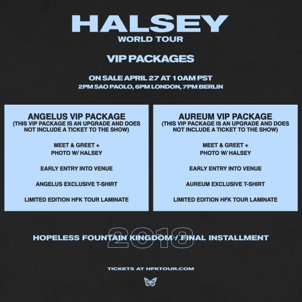 Halsey tickets available aureum vip package m4hsunfo