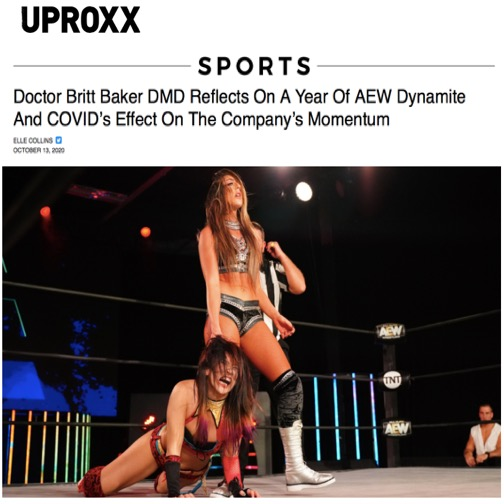 News article image Dr. Britt Baker talks to UPROXX!