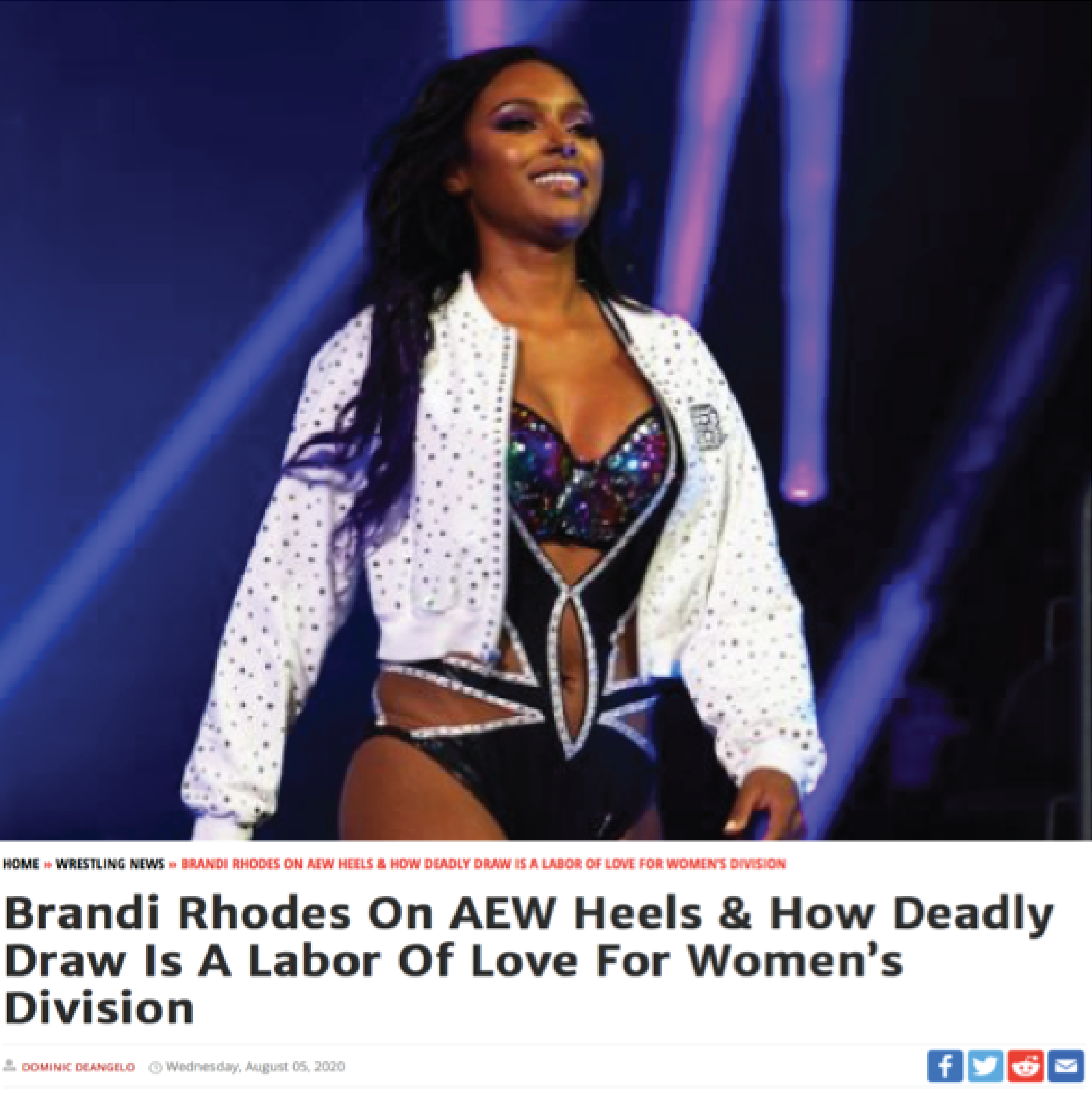 News article image Brandi Rhodes On AEW Heels & How Deadly Draw Is A Labor Of Love For Women's Division