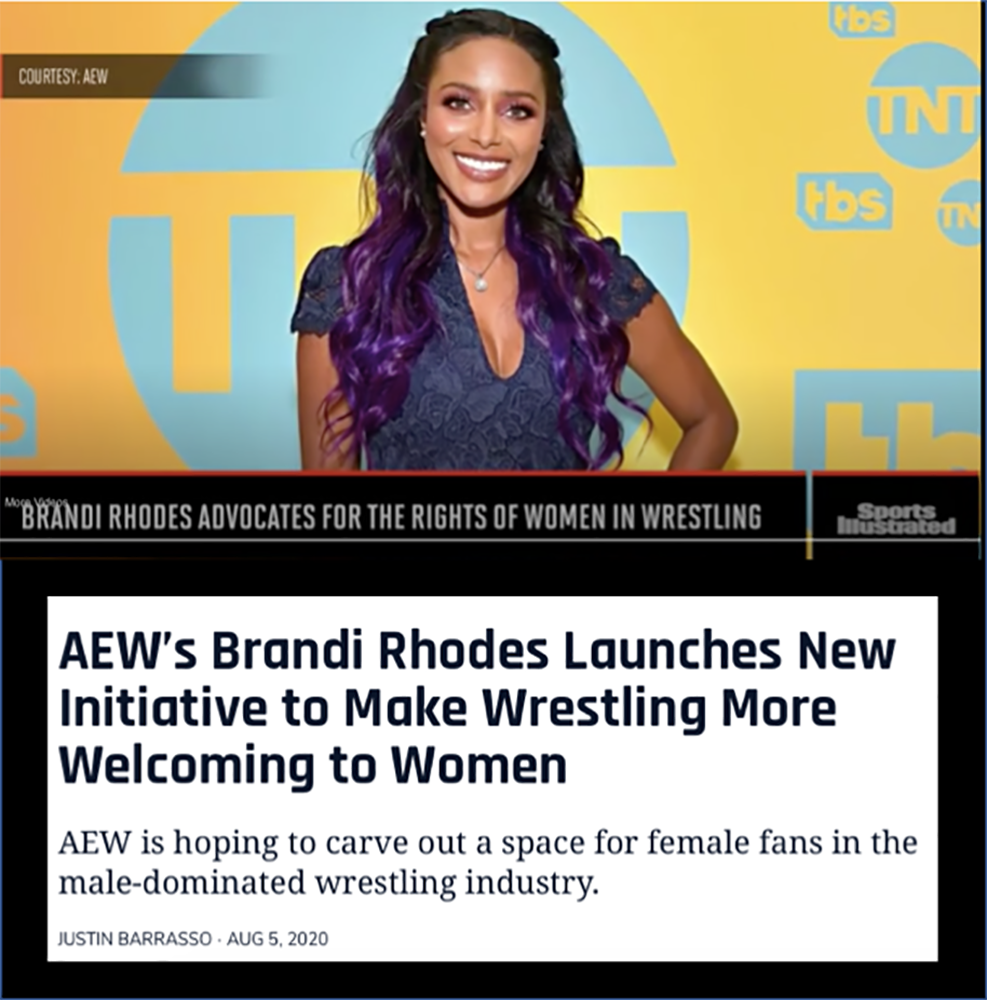 News article image AEW's Brandi Rhodes Launches New Initiative to Make Wrestling More Welcoming to Women