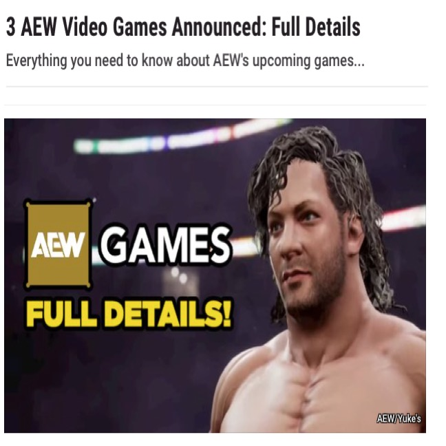 News article image AEW Games announced!