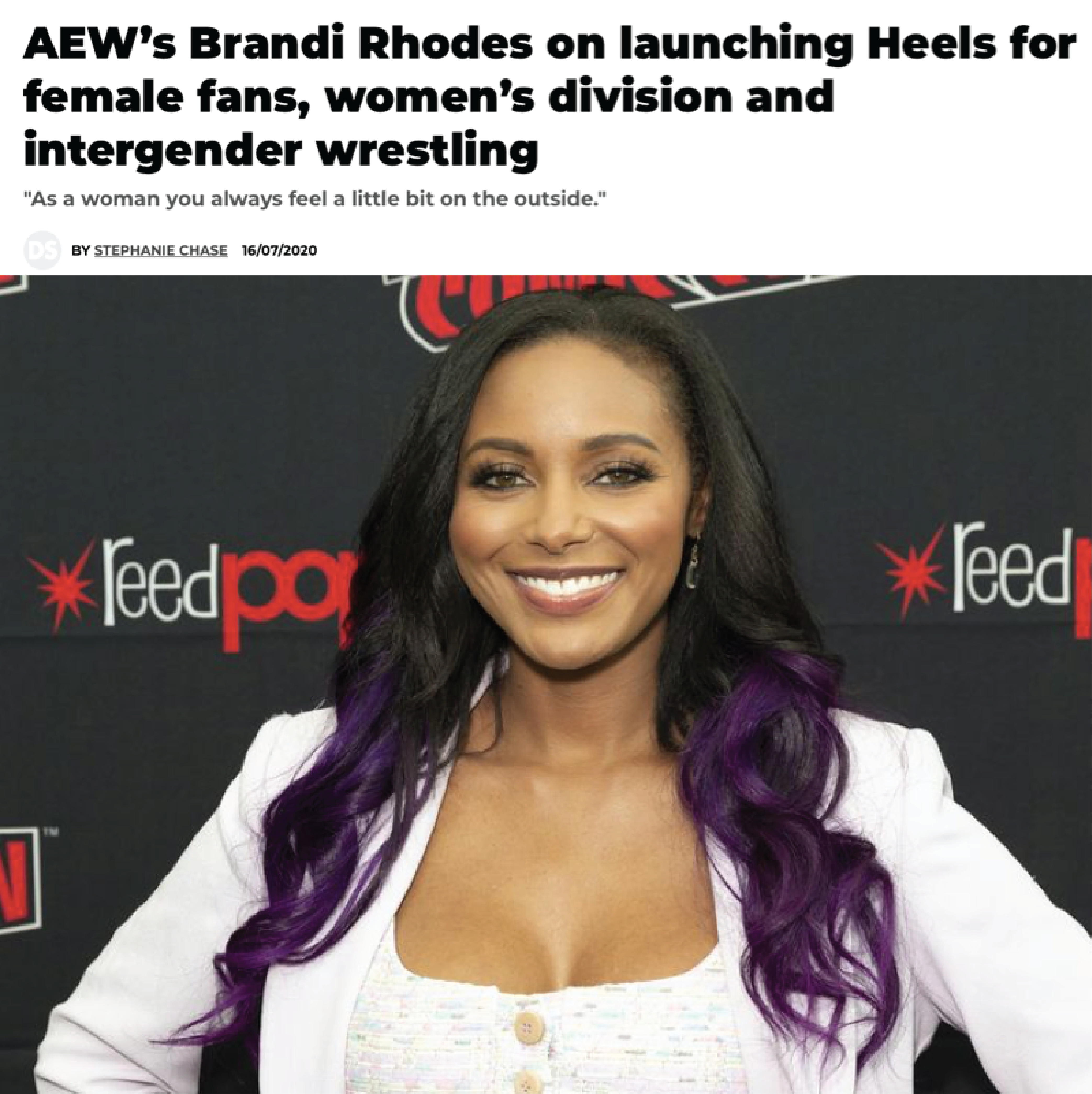 News article image AEW's Brandi Rhodes on launching Heels for female fans, women's division and intergender wrestling
