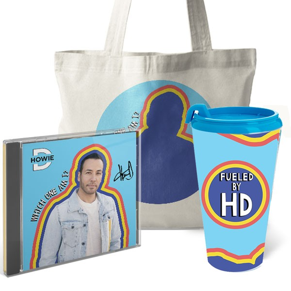 Howie D Which One Am I? Signed CD, Tote, Tumbler Bundle image