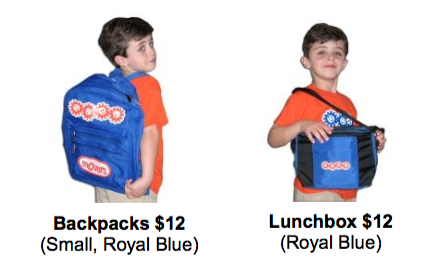 Imagination Movers Backpacks are SOLD OUT