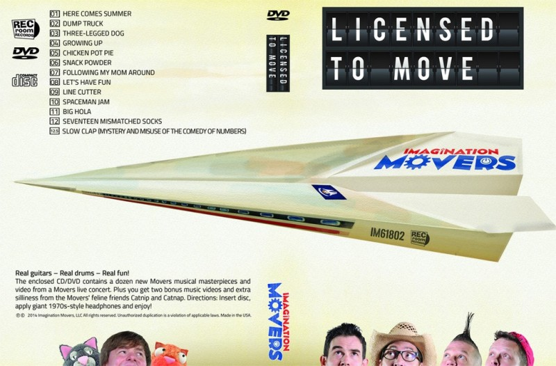 Licensed to Move CD/DVD