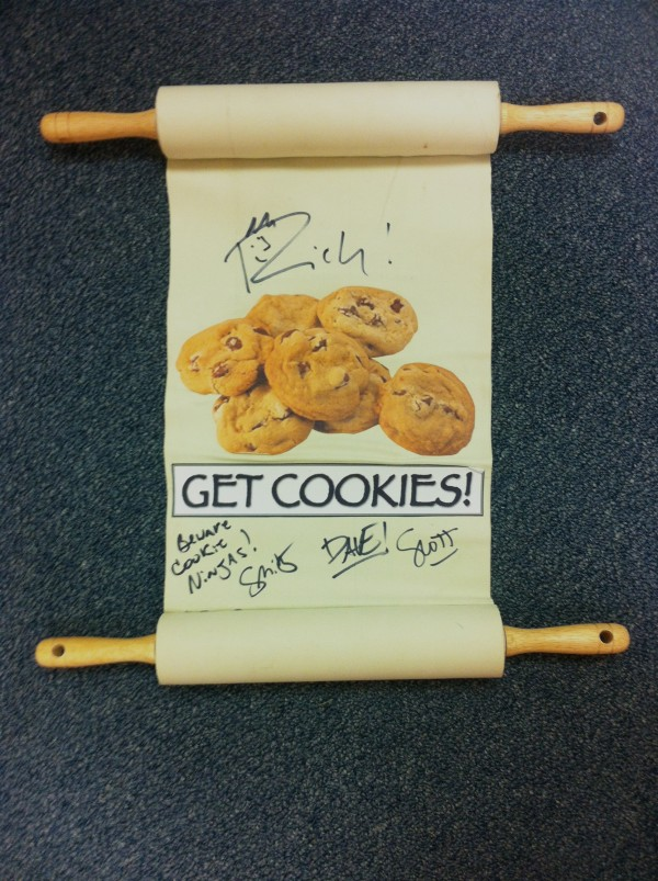 Autographed Movers Rock-O-Matic Ninja Cookie Scroll