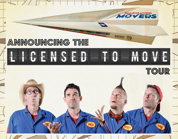 The Imagination Movers are returning to Atlantic Canada!