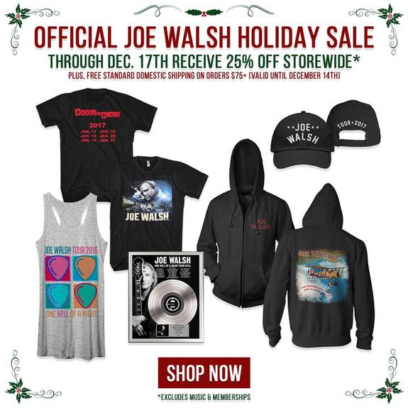Joe Walsh Holiday Sale