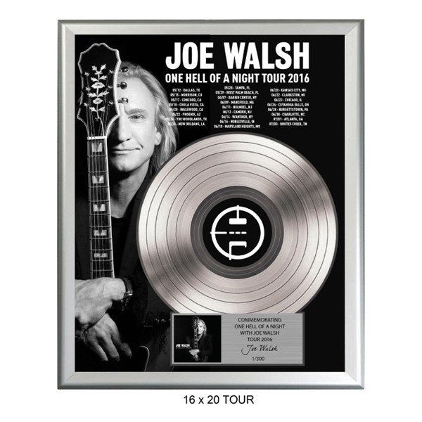 One Hell Of A Night Tour 2016 Gold Record Plaque image