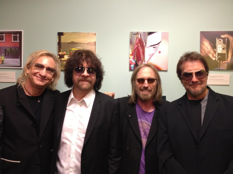 Hanging with my pals at Jeff Lynne's documentary screening at the Grammy museum