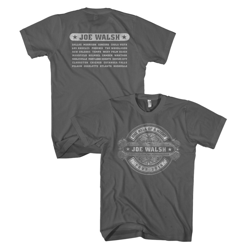 Joe Walsh 2016 Tour Tee Gray