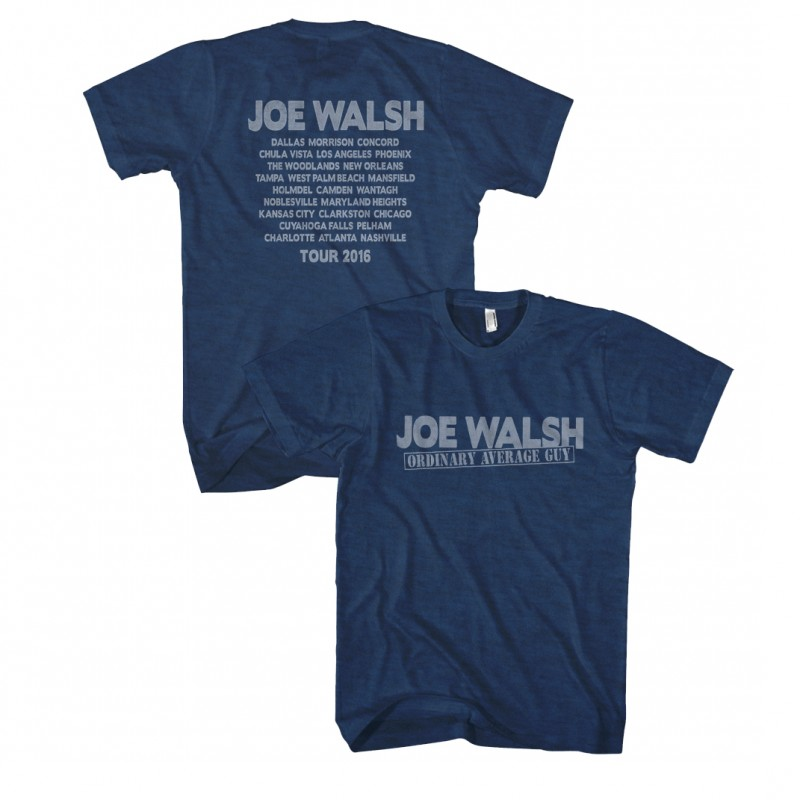 Joe Walsh 2016 Tour T-Shirt Blue
