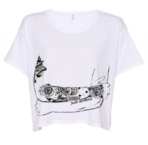 Tattoo Arms White Tee