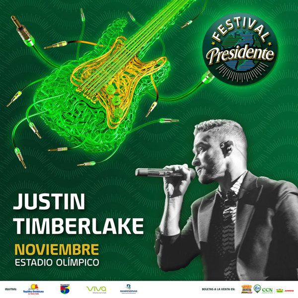 JT To Perform at Festival Presidente in the Dominican Republic!