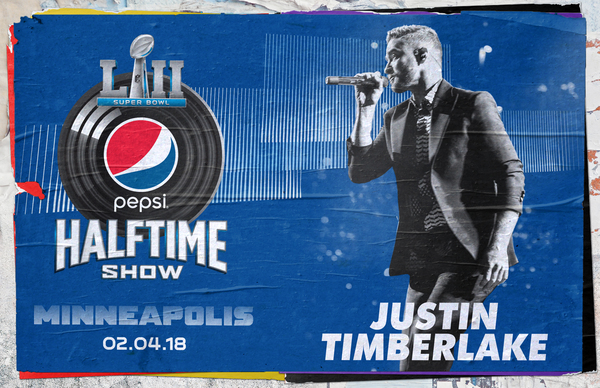 JT HEADLINING THE PEPSI SUPER BOWL LII HALTFIME SHOW!