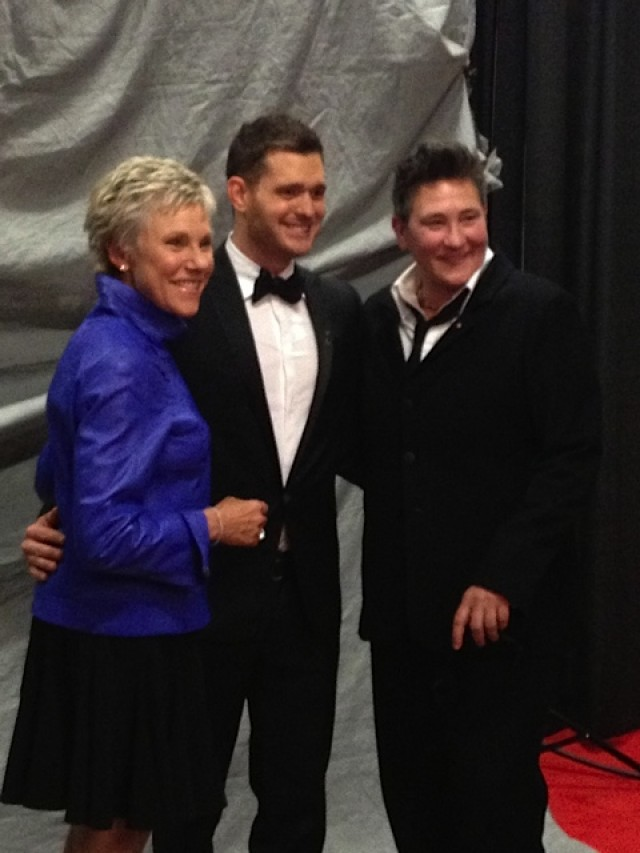 k.d. with Michael Bublé and Anne Murray at the JUNO Awards