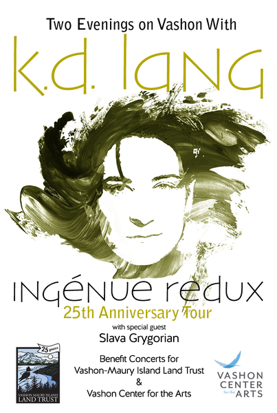 k.d. lang to perform at fundraiser concerts on Vashon Island