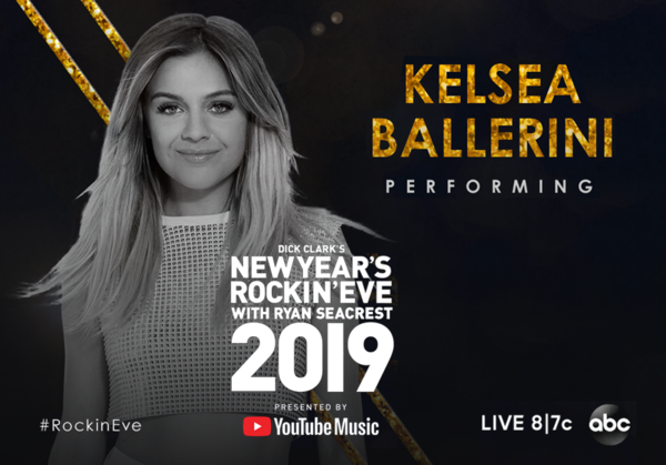 Performing at Dick Clark's New Year's Rockin' Eve!