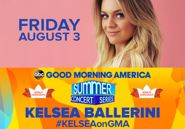Don't Miss Kelsea on GMA's Summer Concert Series!