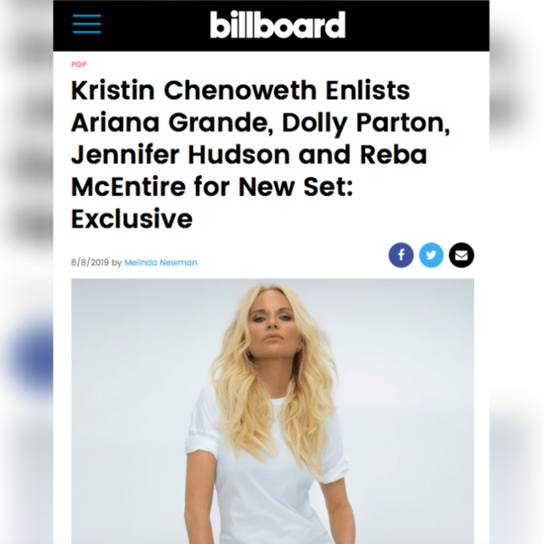 Billboard Reveals Details of Kristin's Upcoming Album: 'For The Girls'
