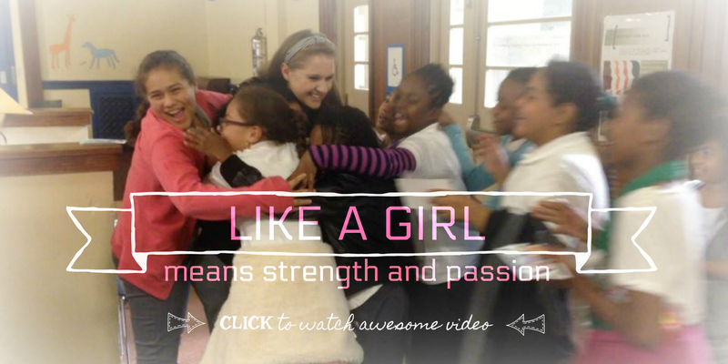 """LIKE A GIRL means strength and passion"" - Lizzie Sider"