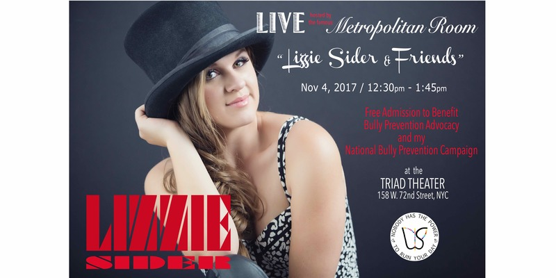 Lizzie Sider LIVE at The Triad (hosted by The Metropolitan Room) | Nov 4, 12:30-1:45pm
