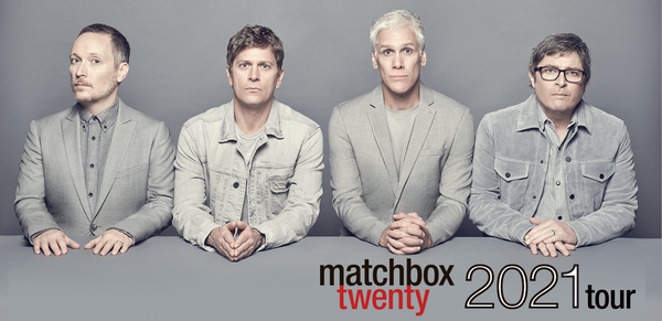 MATCHBOX TWENTY ANNOUNCES ​RESCHEDULED TOUR DATES