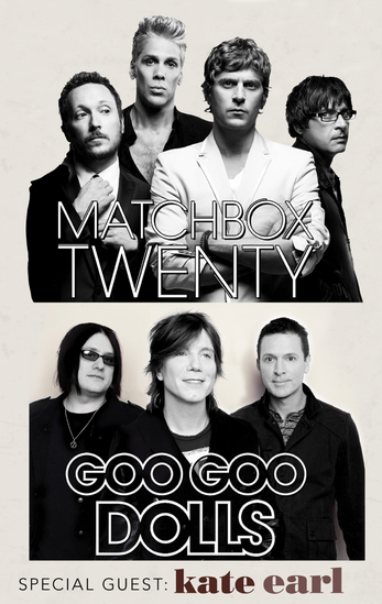 Fanclub Exclusive Pre-sale for 5 More Dates on the Matchbox Twenty & Goo Goo Dolls Summer Tour