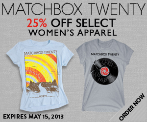 Spring Sale in Matchbox Twenty Merch Store