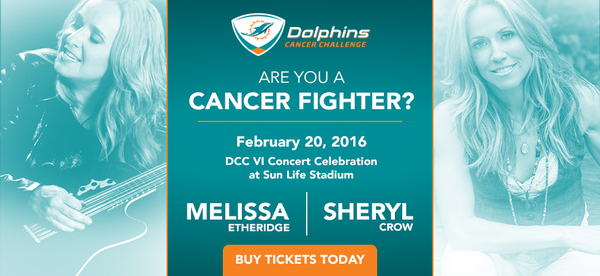 MIAMI DOLPHINS CANCER CHALLENGE VI CELEBRATION CONCERT W/SHERYL CROW