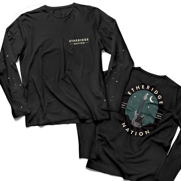 2019 Etheridge Nation Guitar Logo Black Long Sleeve Tee