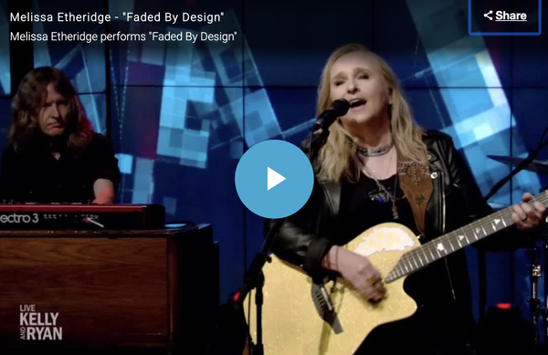 Melissa Etheridge performs Faded By Design on Live with Kelly and Ryan