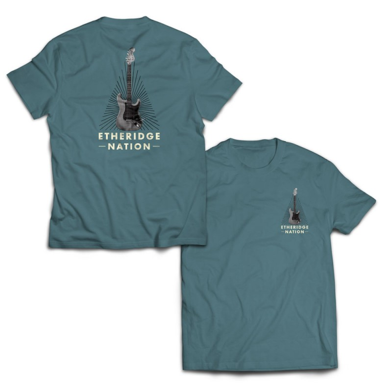 2021 Etheridge Nation Guitar Logo Slate T-Shirt