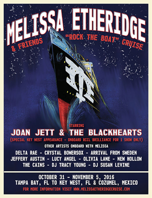 Rock The Boat with Melissa Etheridge and Friends Cruise