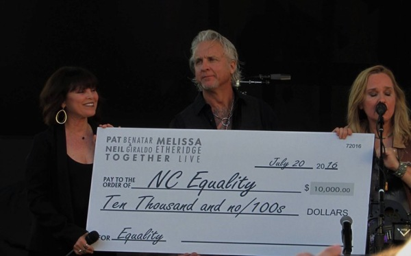 Melissa, Pat & Neil donate to Equality NC!