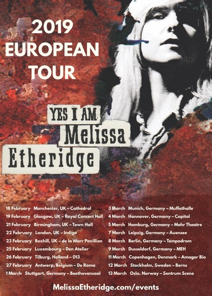 Melissa Returns to Europe for 25 Anniversary Tour