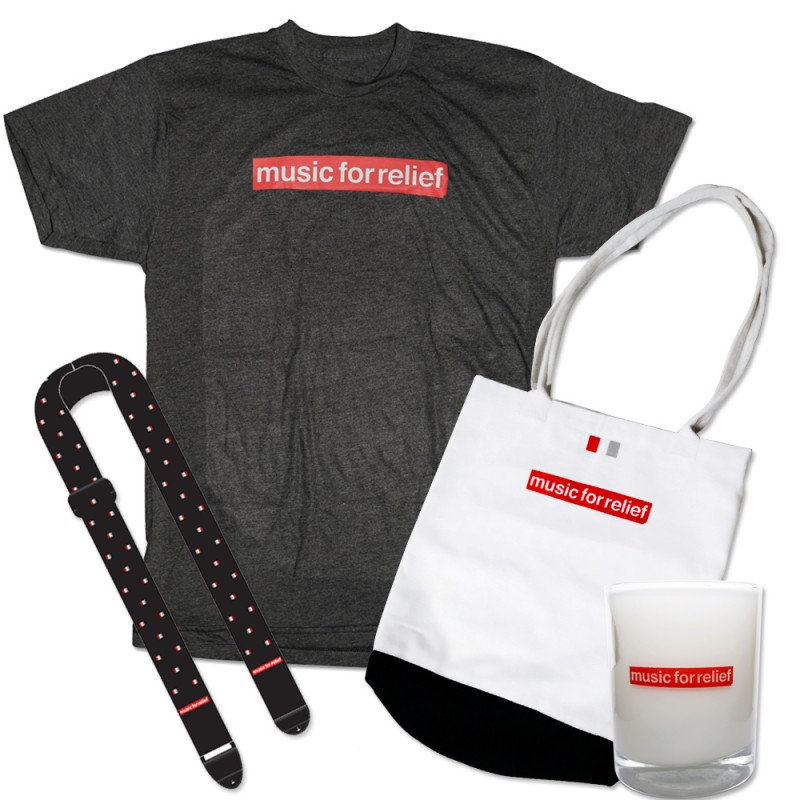 T-Shirt (Men's) + Black Guitar Strap + Candle + Tote Bag
