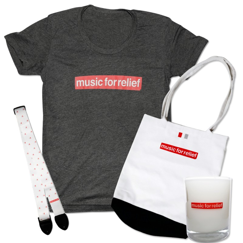 T-Shirt (Women's) + White Guitar Strap + Candle + Tote Bag