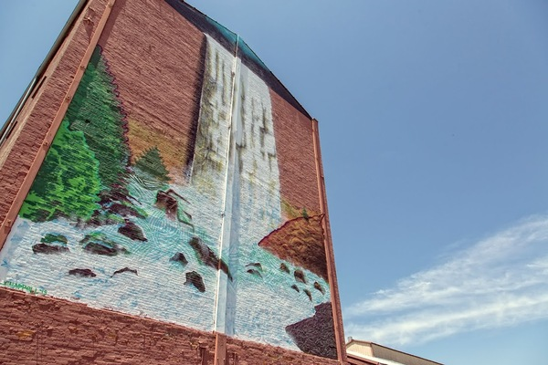 Louisville Beautify Earth Waterfall Mural