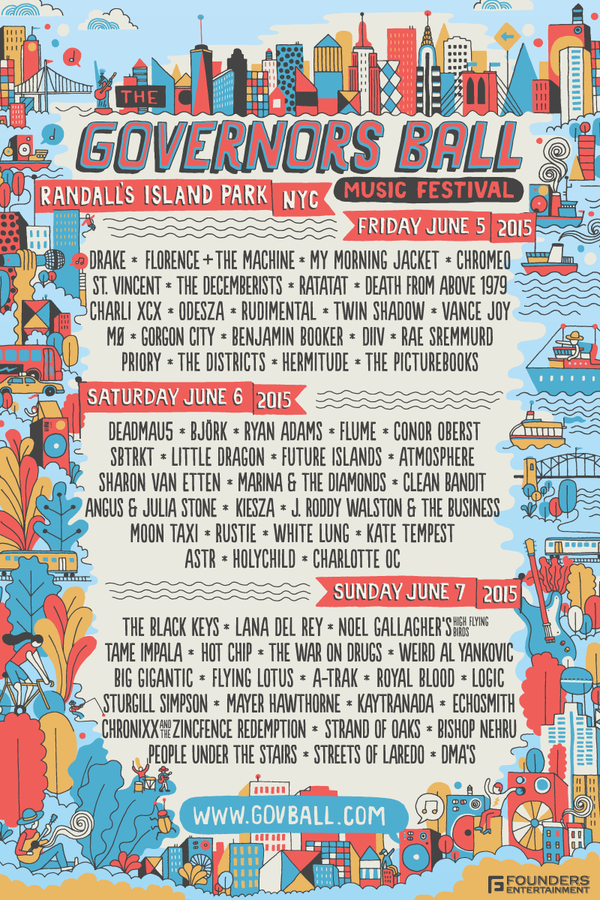 Governors Ball Daily Lineups