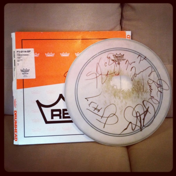 New Contest -- Win A Signed Drum Head