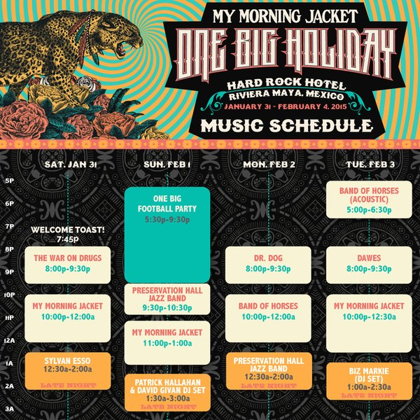 Announcing: One Big Holiday 2015 Set Times