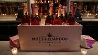 Moet Rose Lounge with Nas