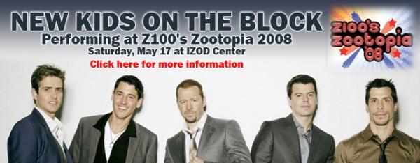 Image for NKOTB TO HEADLINE Z100'S ZOOTOPIA!