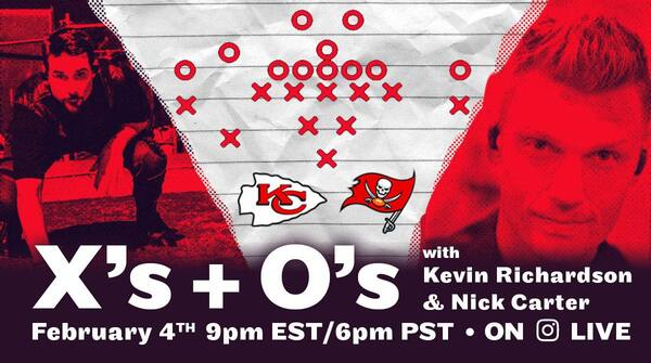 Xs + Os: Join Nick + Kevin For A Super Bowl Chat Live!