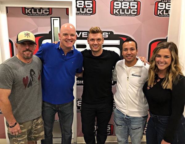 Nick Carter & Howie D Chat with Mix 94.1 & 98.3 KLUC in Las Vegas